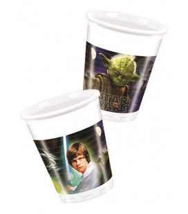 Bicchiere plastica 200 ml Star Wars and Heroes 8 pz
