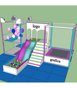 Multislide Playground stile Glitter Motion  7x4,20x2,70 mt