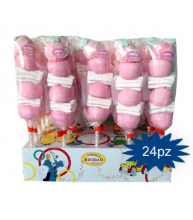SPIEDINO BIMBA ROSA Marshmallow da 25 gr Made in ITALY