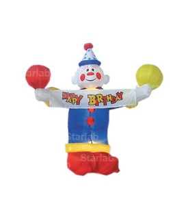 CLOWN gonfiabile illuminato mod. HAPPY BIRTHDAY - Dim. 1,10 mt