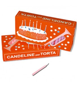 Candelina compleanno Rosa -  100 pz