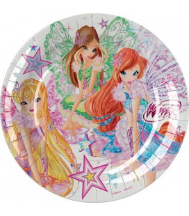 Piatti party Winx New dim 18 cm conf da 8 pz