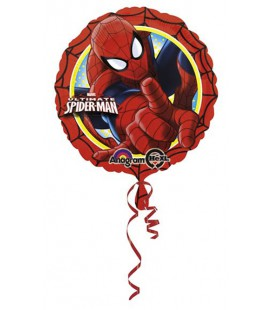 Palloncino Foil Mylar Party Spiderman 17 diam 43 cm