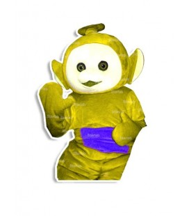 Mascotte Tele TV giallo indossabile